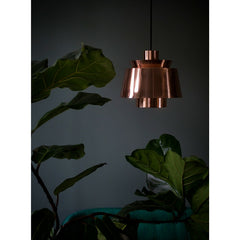Utzon Copper Pendant Light by & Tradition with Fiddle Leaf Fig