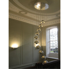 Verner Panton FlowerPot Pendant VP1 Stainless Steel Chandelier Grouping & Tradition