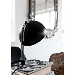Verner Panton Matte Black Flowerpot Lamp in Situ Detail