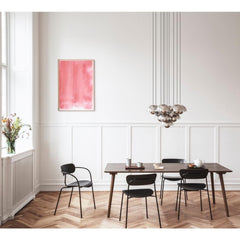 Verner Panton VP1 Pendant Lights in Dining Room with Art and Flowers And Tradition Copenhagen