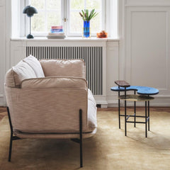 Verner Panton VP3 Flowerpot Lamp Styled with Cloud Sofa Palette Coffee Table And Tradition Copenhagen
