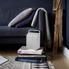 Vifa Oslo Speaker Pebble Grey in living room