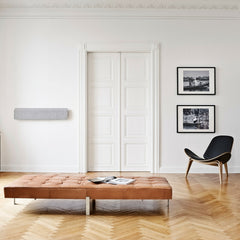 Wall Mounted Vifa Stockholm Soundspeaker with Hans Wegner Shell Chair