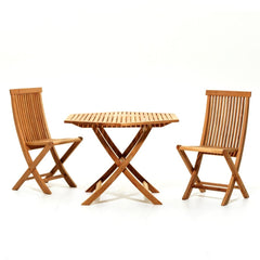 Small Viken Dining Table with two Viken Chairs by Skargaarden