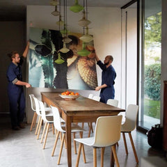 Vitra HAL Wood Chairs by Jasper Morrison in Dining Room Vitra Home Stories