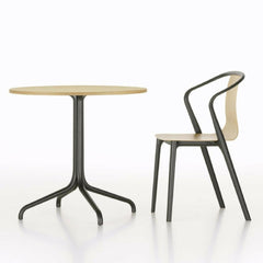 Vitra Belleville Chair in Natural Oak with Bistro Table