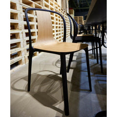 Vitra Belleville Chair in Natural Oak at Salone di Mobile Launch