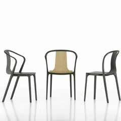 Vitra Belleville Chairs in Natural Oak, Dark Stained Oak and Black Ash