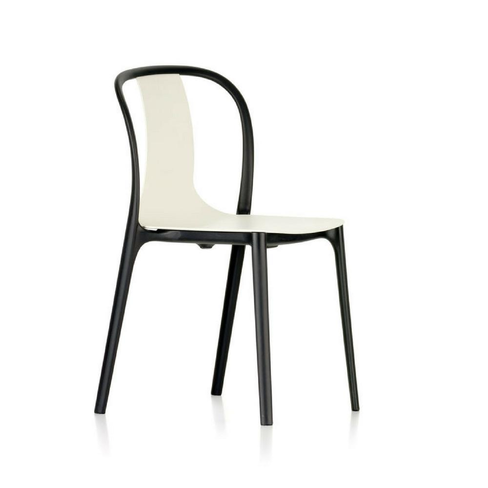 modern chair plastic. Vitra Bouroullec Belleville Chair In White Plastic Modern