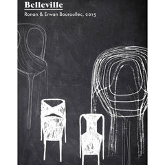 Vitra Bouroullec Belleville Chair Chalkboard Sketch
