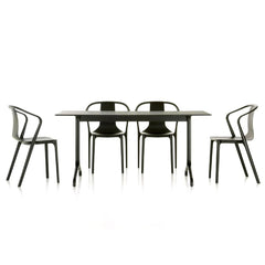 Vitra Bouroullec Belleville Chairs with Table