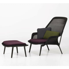 Vitra Bouroullec Slow Chair and Ottoman Brown