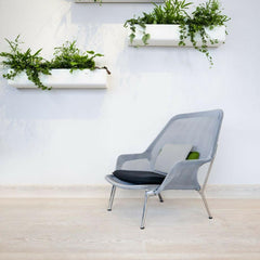 Vitra Bouroullec Slow Chair Blue Green in Room with Plants