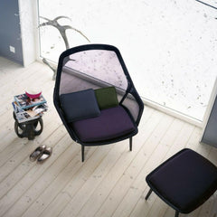 Vitra Bouroullec Slow Chair Brown Top View
