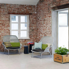 Vitra Bouroullec Slow Chairs in Loft with Exposed Brick