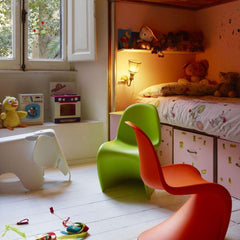 Vitra Eames Elephant in kids room with Panton Chairs