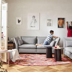 Vitra Eames Elephant in Room with Losanges Rug and Mariposa Sofas