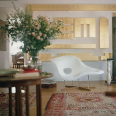 Vitra Eames La Chaise in Room with Art and Flowers