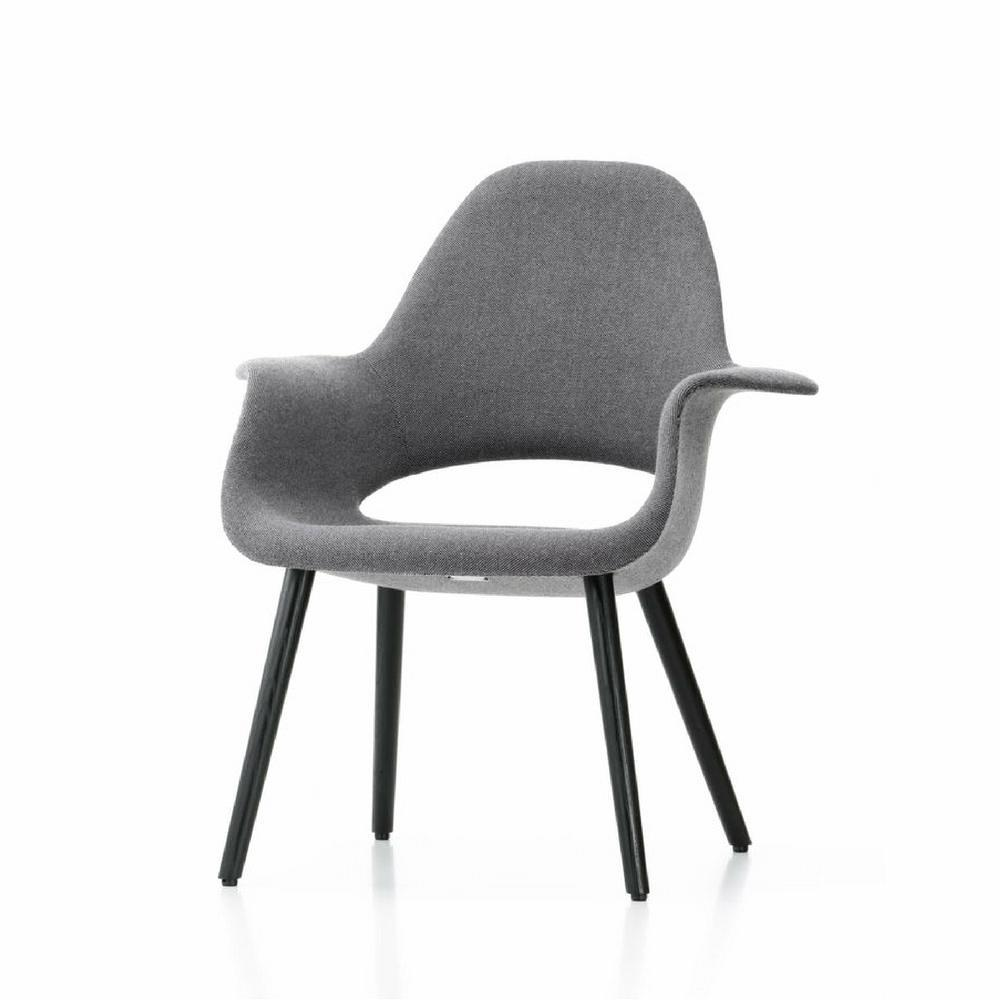 Vitra Eames Saarinen Organic Chair Grey Angled