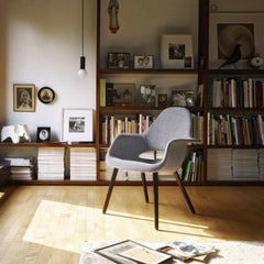 Eames and Saarinen Organic Chair in Library Vitra Winter Stories 2018