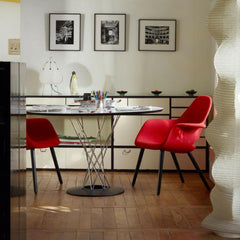 Vitra Eames Saarinen Organic Chairs in Room with Knoll Noguchi Cyclone Dining Table