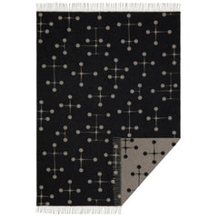 Vitra Eames Wool Blanket Dot Pattern Black Open