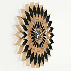 Vitra George Nelson Sunflower Clock Birch Detail