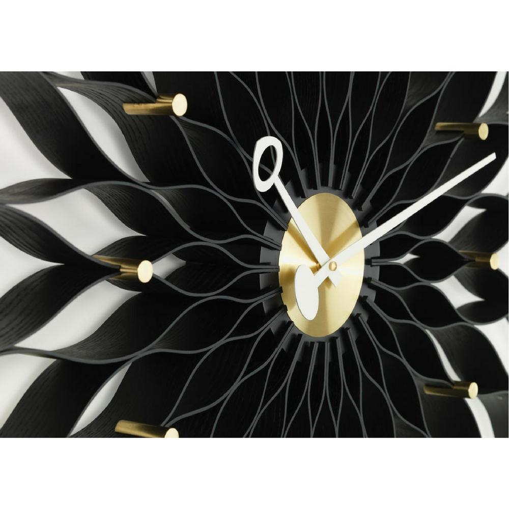 Vitra George Nelson Sunflower Clock Black And Brass Detail