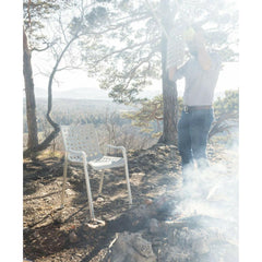 Vitra Landi Chair by Hans Coray outdoors at campsite