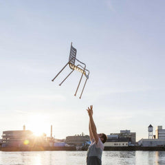 Vitra Landi Chair by Hans Coray up in the air