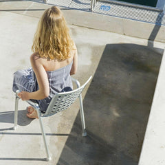 Vitra Landi Chair with woman in situ