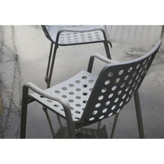 Vitra Landi Chairs outdoors with raindrops