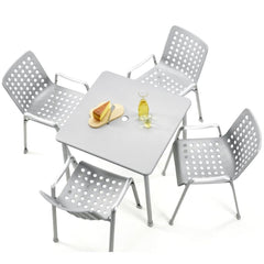 Vitra Landi Chairs by Hans Coray with Davy table by Michel Charlot
