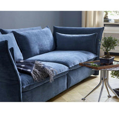 Vitra Mariposa Sofa by Barber Osgerby Dark Blue in Room Detail