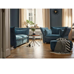 Vitra Mariposa Sofas in Dark Blue by Barber Osgerby in Room