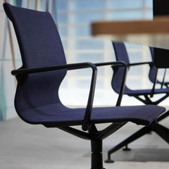Vitra Physix Chair by Alberto Meda Black Trio Knit with Black Frame