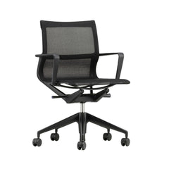 Vitra Physix Office Chair by Alberto Medal Black Trio Knit with Black Frame