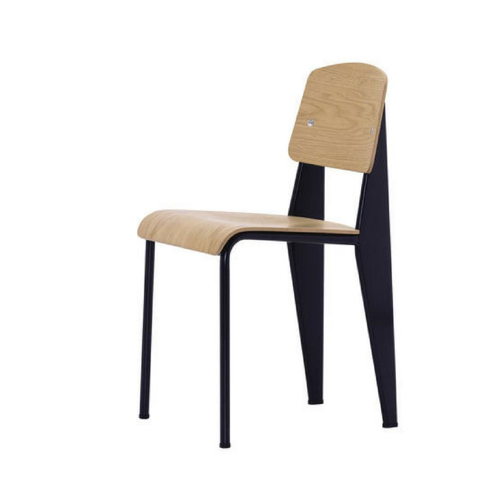 Vitra Prouve Standard Chair Oak with Black
