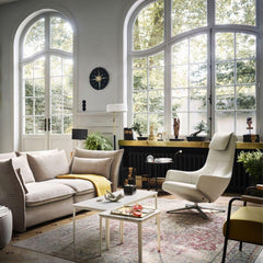 Vitra Repos in Living Room with Mariposa Sofa