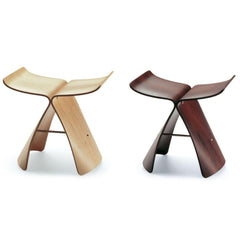 Vitra Sori Yanagi Butterfly Stools in Maple and Rosewood