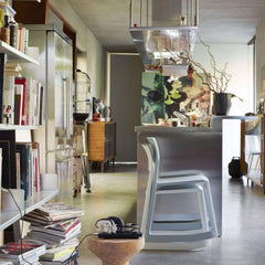 Vitra Tip Ton Chairs by Barber Osgerby Stacked in Kitchen