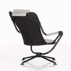 Konstantin Grcic Waver Chair Black with White Cushions Back Angeld Vitra