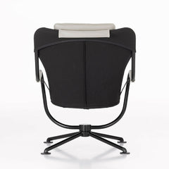 Konstantin Grcic Waver Chair Black with White Cushions Back Vitra