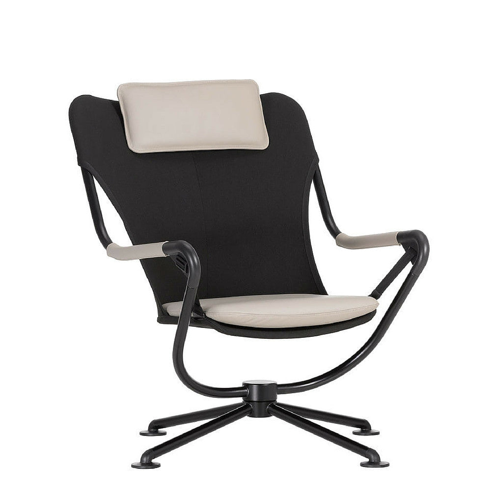 Konstantin Grcic Waver Chair Black with White Cushions Vitra