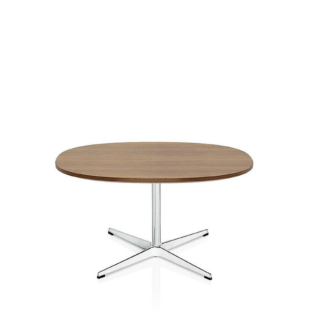 Fritz Hansen Walnut Super Circular Coffee Table designed by Arne Jacobsen Piet Hein and Bruno Matthson