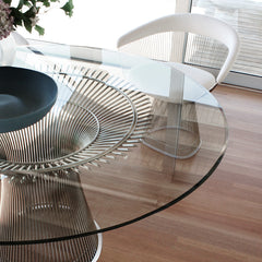 Warren Platner Dining Table in Room with White Platner Chair Knoll