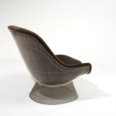 Backside of Warren Platner's Easy Chair with Knoll Velvet Upholstery from Knoll