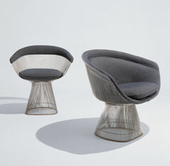 Warren Platner Lounge Chair and Side Chair Grey Knoll