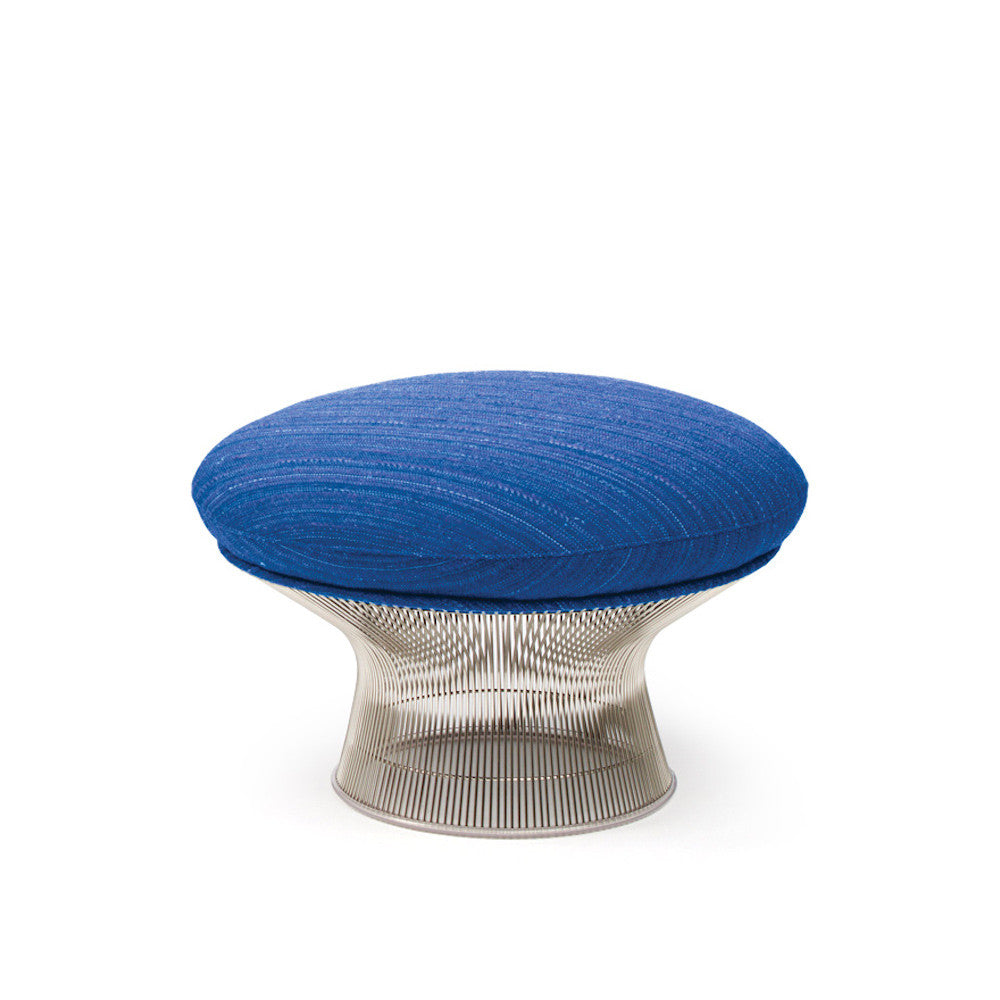 Knoll Platner Ottoman in Dynamic Lapis