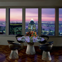 Knoll Platner Dining Table and Chairs in New York City Loft